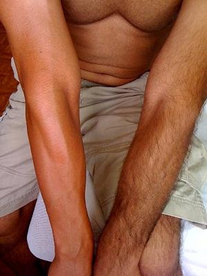 waxed arm